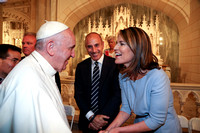 Pope Francis greets Today Show Hosts Matt Lauer and Savannah Guthrie