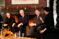 Actor Matt Damon, President Bill Clinton & PepsiCo CEO Indra Nooyi at a fire side chat.